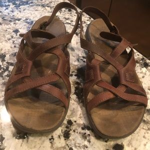 Merrell Agave Brown Strappy Sandals 8